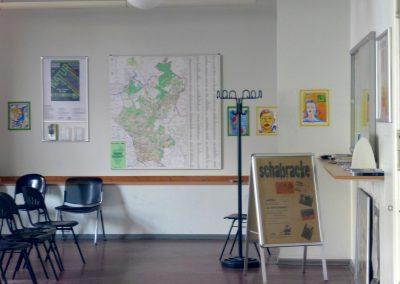 Ausstellungsansicht Wartenraum